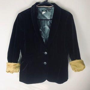 J crew black velvet eden blazer jacket 6 dressy